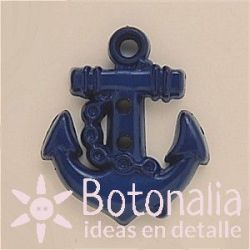 Anchor in navy blue 25 mm