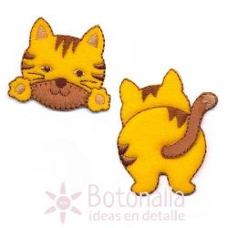 Gato - Pegatina doble