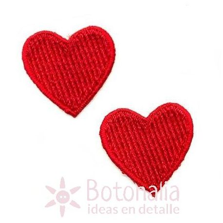 Hearts in red