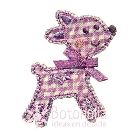 Little animal with a gingham design in purple