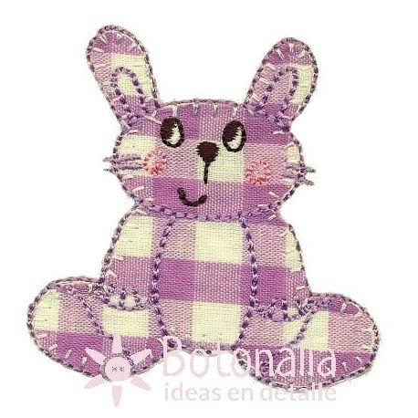 Rabbit with a gingham design in purple