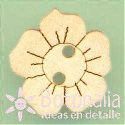 Flower in wood 15 mm