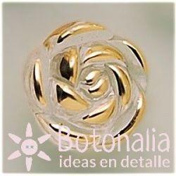 Rosa transparente dorada 13 mm