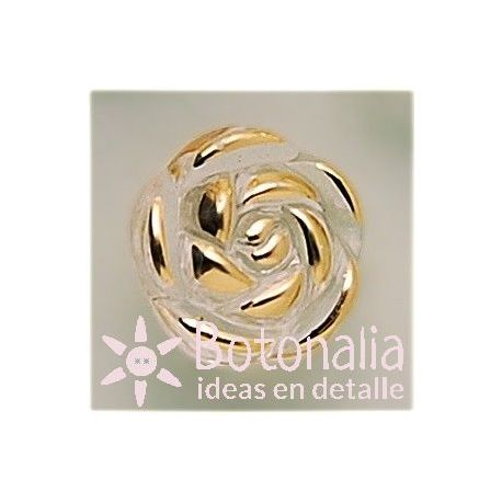 Golden rose (transparent) 13 mm