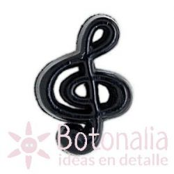 Treble clef in black