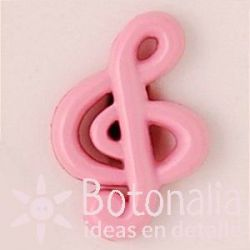 Treble clef in pink 19 mm
