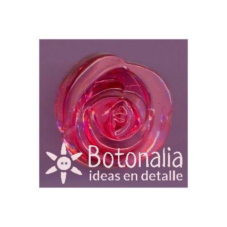 Rosa roja transparente 15 mm
