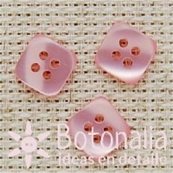 Square button in pink 12 mm
