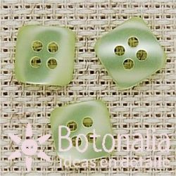 Square button in green 12 mm