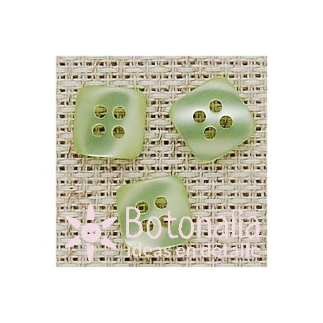 Square button in green 12 mm