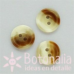 Marbled button 11 mm