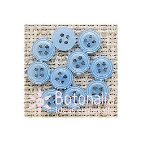 Round in blue 10 mm