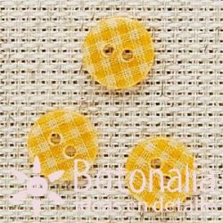 Gingham print transparent in orange 13 mm
