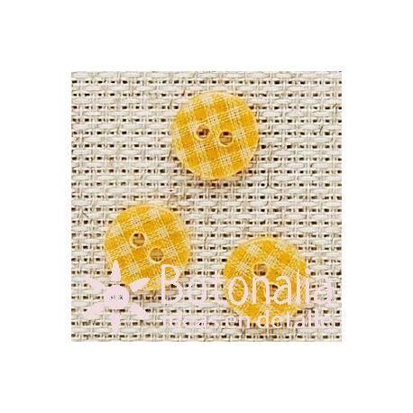 Vichy transparente naranja 13 mm