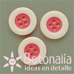 Circular rosa con borde blanco