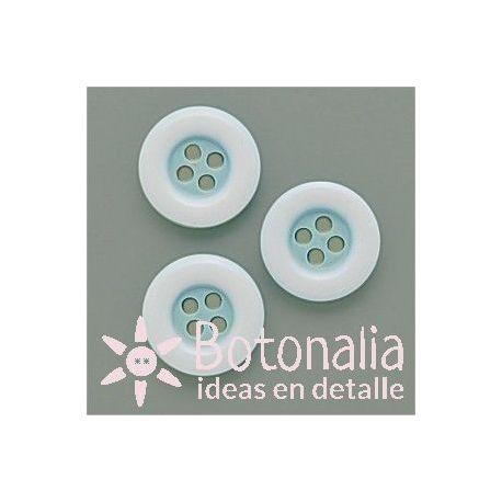 Circular azul con borde blanco