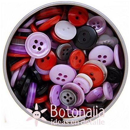 Lata de botones variados - Vintage