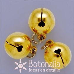 Golden jingle bell 15 mm