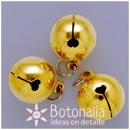 Golden jingle bell 15 mm