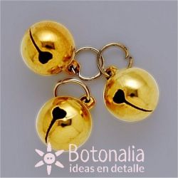 Golden jingle bell 12 mm