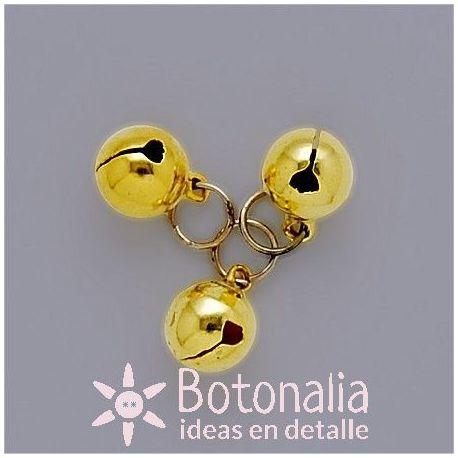 Golden jingle bell 10 mm