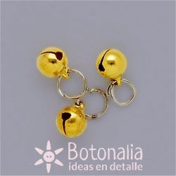 Golden jingle bell 8 mm