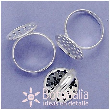 Ring with perforated base to place embellishments