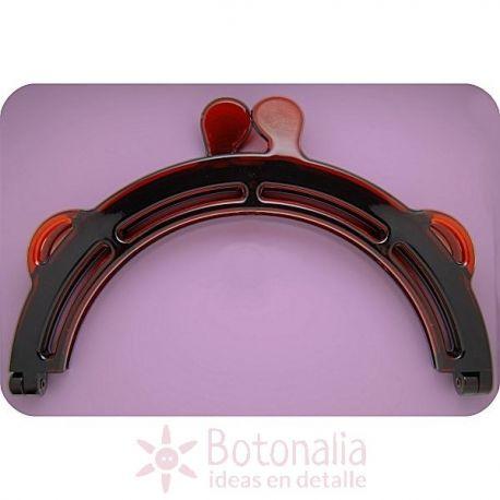 Large clasp frame for handbag - tortoiseshell