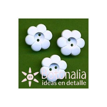 Little flower in white 15 mm