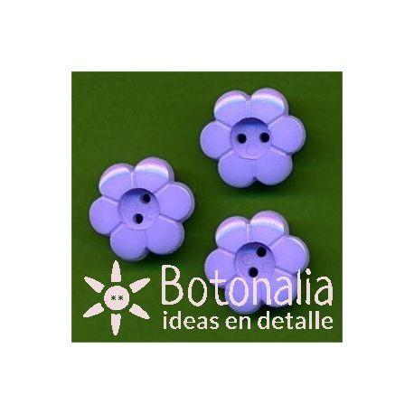 Little flower in blue 15 mm