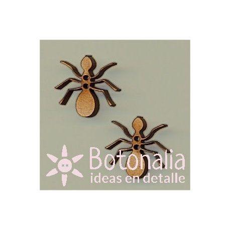 Dos hormigas de madera 20 mm