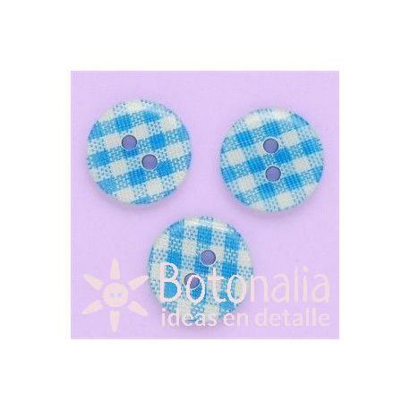 Gingham print in light blue 13 mm