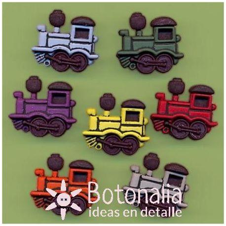 Dress-it-Up - Button Fun - Trains