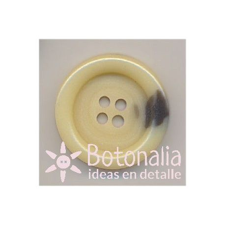 Round classic button in beige 23 mm