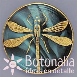 Glass button dragonfly 41 mm
