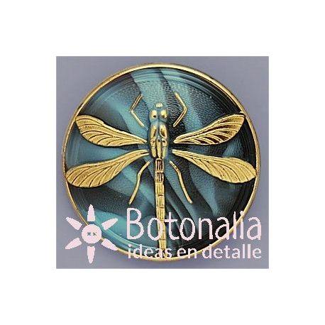 Botón cristal libélula 41 mm