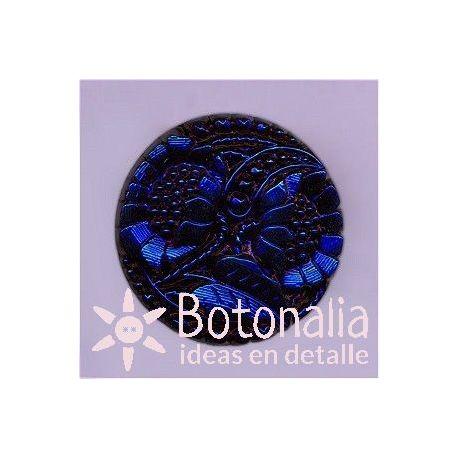 Botón cristal azul 27 mm