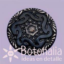 Botón cristal negro 27 mm