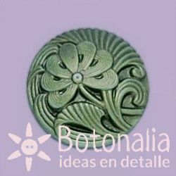 Botón cristal verde 18 mm