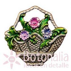 Botón cesta de flores