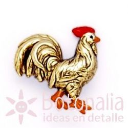 Button golden rooster