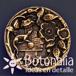 Golden button 36 mm