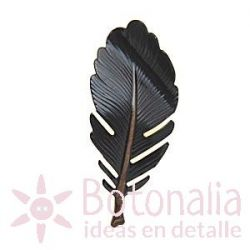 Button feather in black
