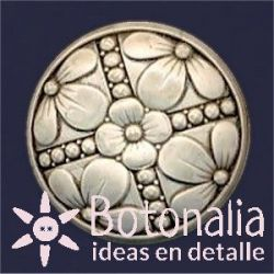 Button with flowers 40 mm