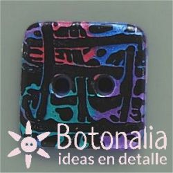 6 Botones Tartan-Cuad 35 mm