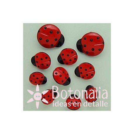 Dress-it-Up - Ladybugs 15, 17 and 24 mm