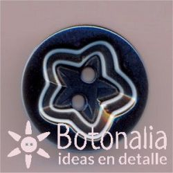 Classic round button star 18 mm