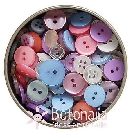 Lata de botones variados - Baby
