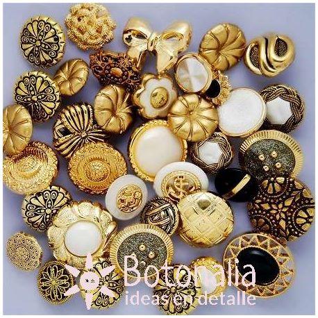 Lata de botones variados - Antique Mix