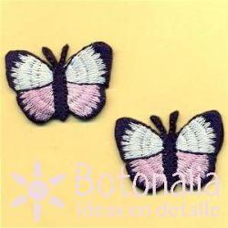 Mariposas en blanco y rosa